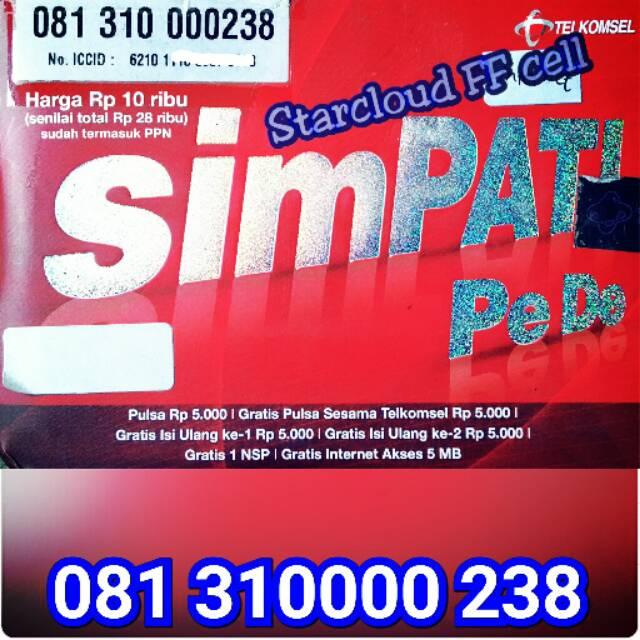 Perdana Telkomsel Simpati Loop Nomor Cantik Triple Ujung Ekor 666   Shopee Indonesia