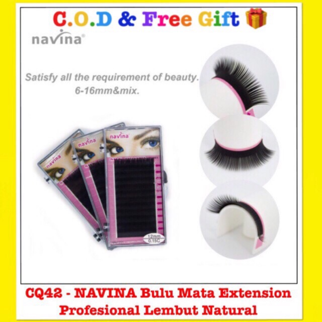 CQ42 - NAVINA 0.15C/D Bulu Mata Extension Profesional ...