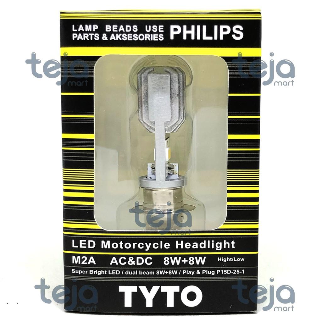 Lampu Utama Led Motor 3 Sisi Socket H6 Ac Dc Pnp Shopee Indonesia Depan Mata 6 M02e Super Terang