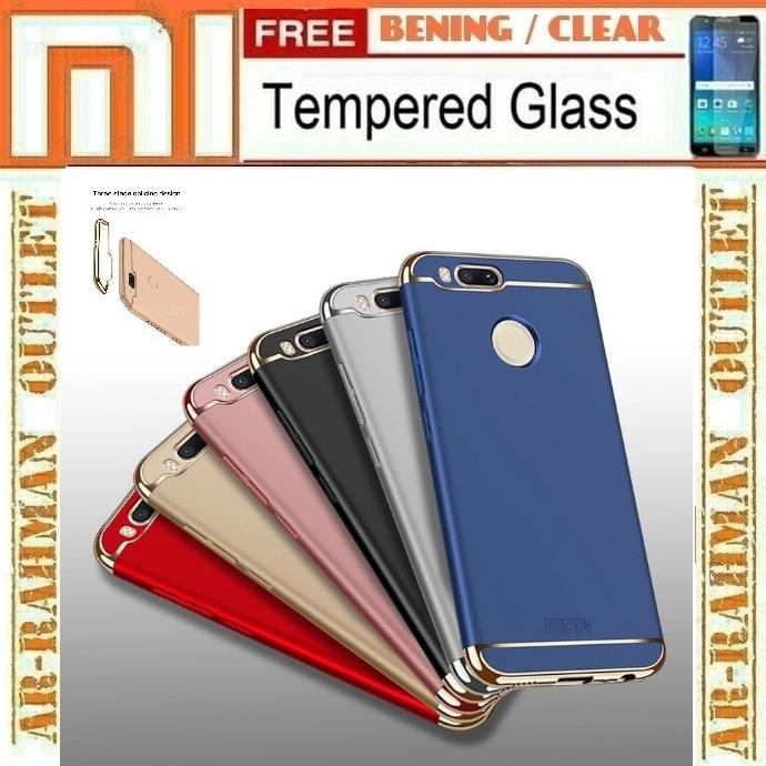 Murah Limited N Ready Xiaomi Mia1 Mi A1 Casing Case Ipaky Carbon Anti Crack + Tempered