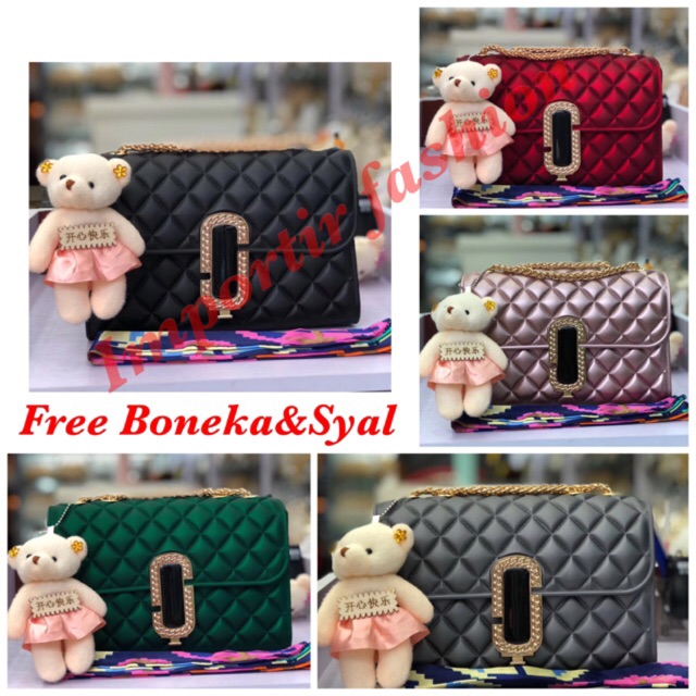 IF 🔥🔥🔥 PROMO TAS JELLY GLOSSY IMPORT High Quality Small-3089 ... 150f30f2fc