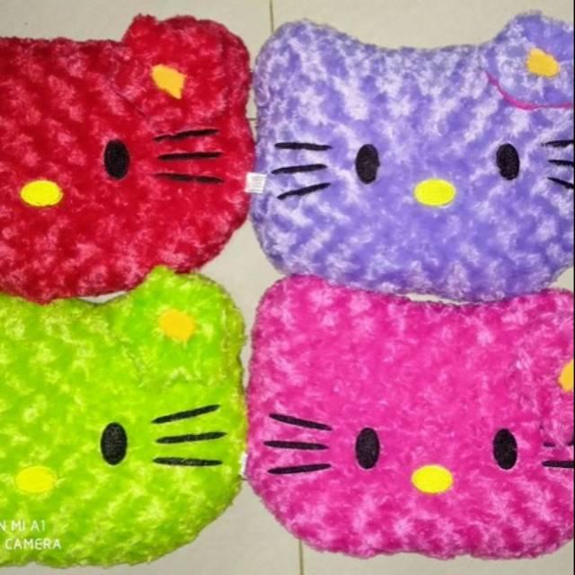Bantal Kepala Muka Hello Kitty Warna Shopee Indonesia