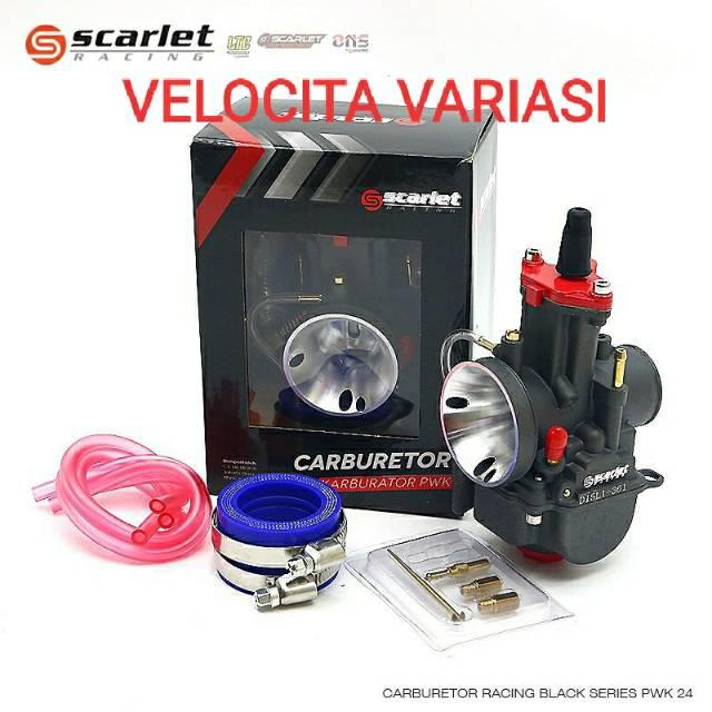 Karbu karburator scarlet black series PWK 24 26 28 30 32