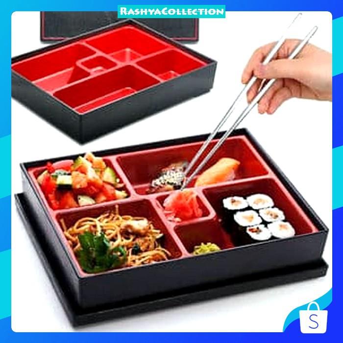 Japanese Bento Box Dengan Tutup Bento Box Jepang Shopee Indonesia