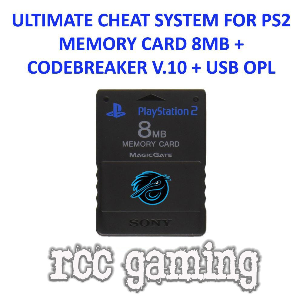 MEMORY CARD PS2 CHEAT CODEBREAKER & USB OPL