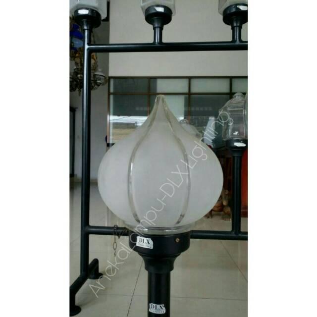 Dlx Lighting Tf 64 Lampu Taman Pilar Diameter Kaca 22cm Shopee Indonesia