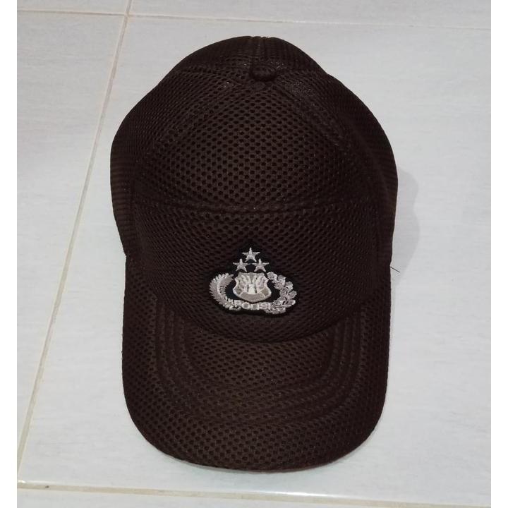 Topi polisi bintara pama coklat  6397c49382