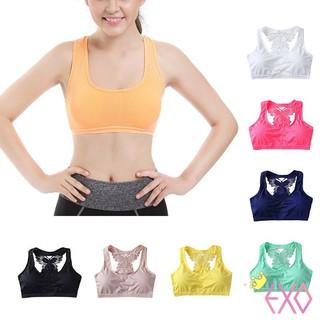 2f4c2bf2ad Bra Sport Wanita Motif Kupu-Kupu dengan Busa Quick Dry untuk Yoga   Fitness    Gym