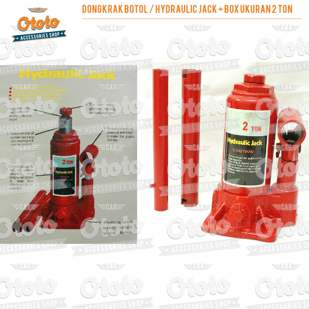 Dongkrak Botol 20 Ton Hidraulik Hydraulic Bottle Jack 20t Tongkat Tekiro 15 Utuh Shopee Indonesia