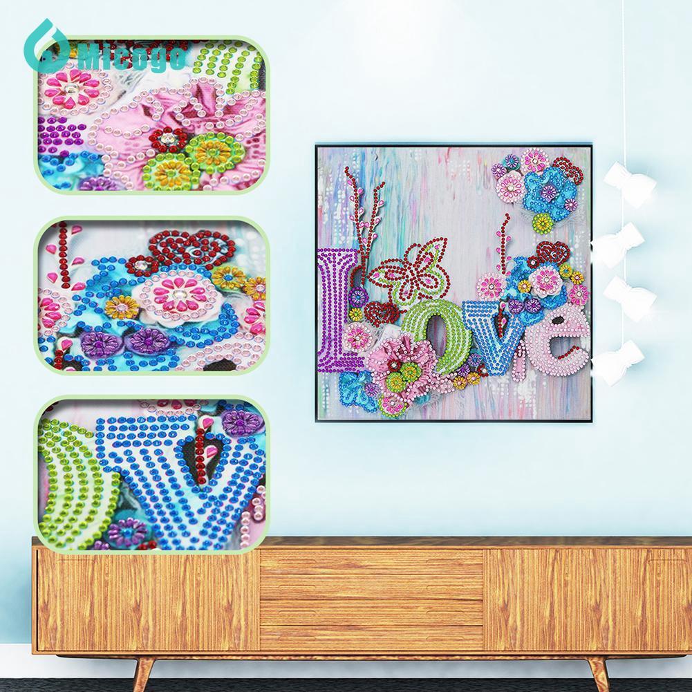 [prmio Stockher] Lukisan Diamond 5D DIY Gambar Mosaik Love Untuk Dekorasi Rumah
