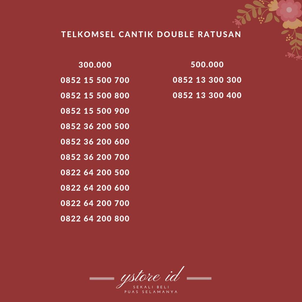 Nomor Cantik Simpati Telkomsel Nocan Seri Tripel Angka Besar Rapih Hoky | Shopee Indonesia