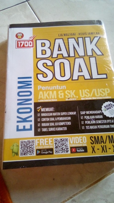 Buku Soal Sma 1700 Plus Bank Soal Akm Ekonomi Sma Ma X Xi Xii Shopee Indonesia
