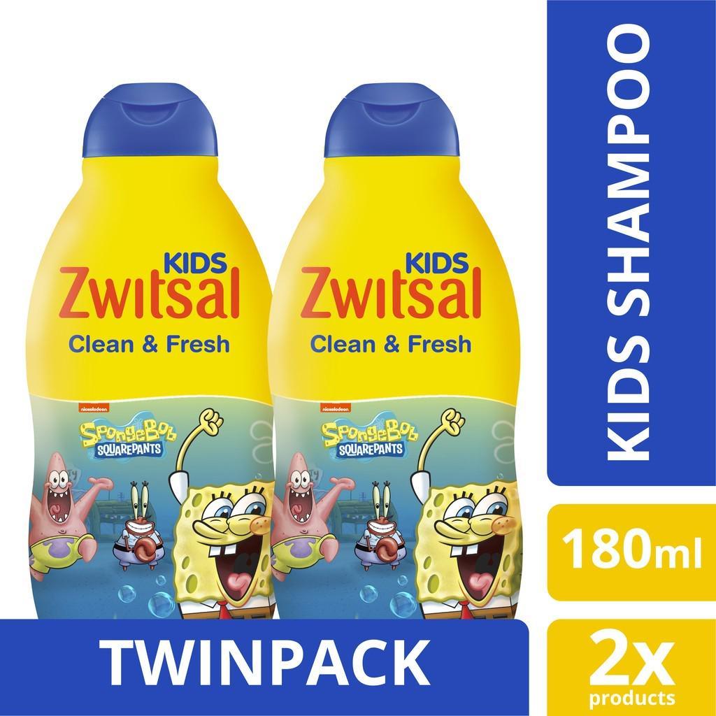 ZWITSAL KIDS SHAMPOO BLUE CLEAN & FRESH 180ml TWINPACK
