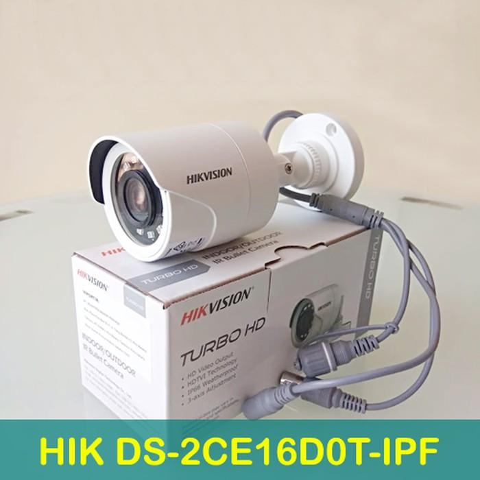 KAMERA CCTV HIKVISION TURBO HD 1080P DS-2CE16D0T-IPF 2MP OUTDOOR CCTV  CAMERA 4 in 1 TVI/AHD/CVI/CVBS