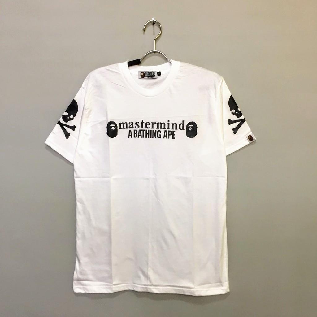 2c408e111 Kaos Baju A Bathing Ape BAPE X Mastermind T shirt White | Shopee Indonesia