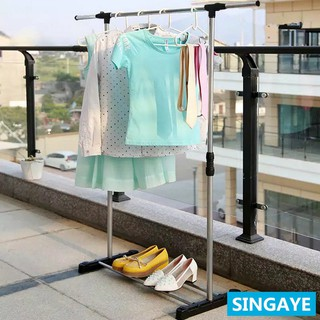 singaye stand hanger single rak baju stainless dekorasi