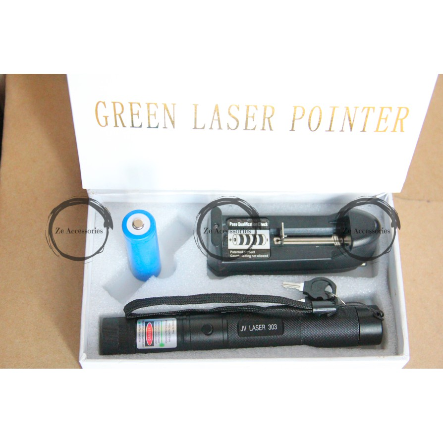 Laser Pointer Hijau 303 Rechargeable Jarak Jauh Shopee Indonesia Atau Green