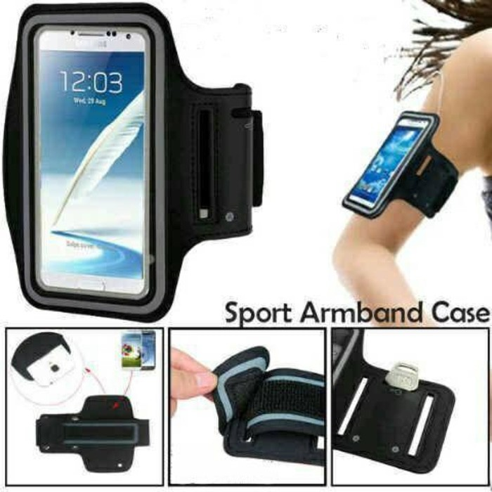 CRAZY GO Armband Smartphone Universal Bahan Neoprene Anti Air Warna Polos untuk Olahraga | Shopee Indonesia