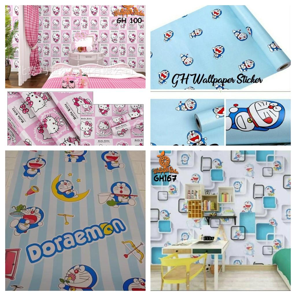 [COD] Wallpaper Stiker Stiker Dinding Wallpaper Wallpaper Sticker Wallpaper Dinding Doraemon