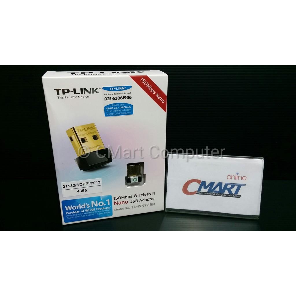 Tp Link Tl Wn722n Tplink 150mbps High Gain Wifi Wireless Usb Wn 722n Wi Fi Adapter Shopee Indonesia