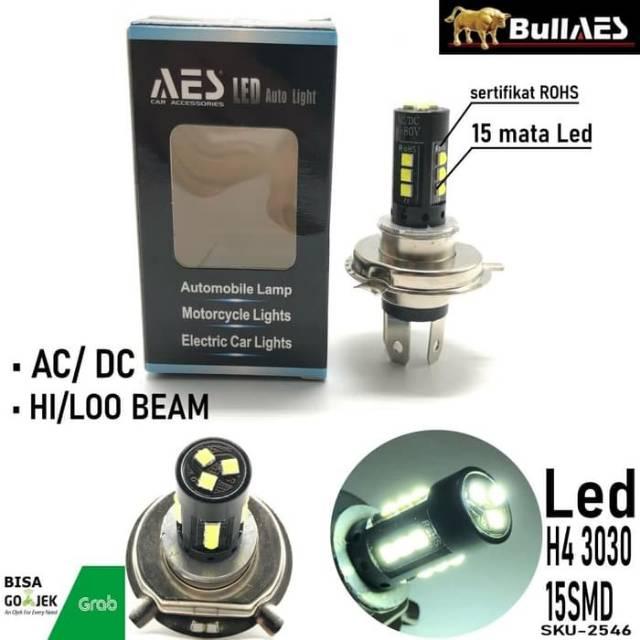BOHLAM LAMPU LED VIXON BYSON I Lampu Motor Kaki 3 H4
