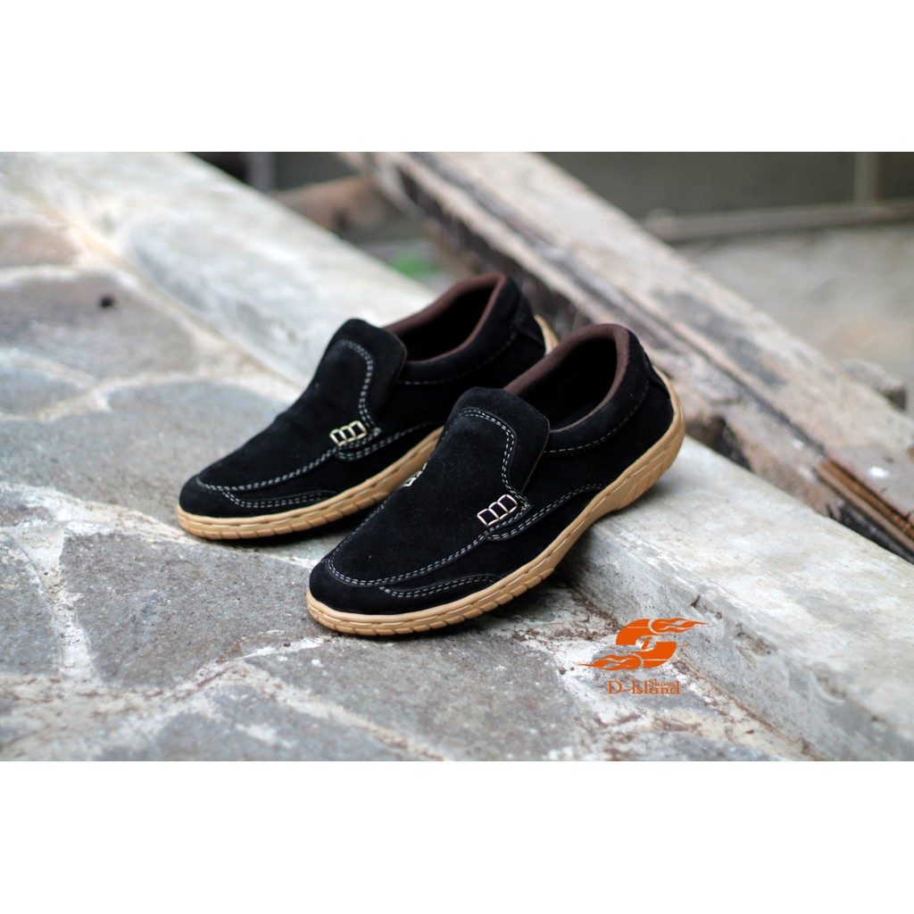 D Island Shoes Slip On New Driving Comfort Leather Black Shopee Moccasin Loafers Special Cokelat Tua Indonesia