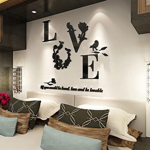 Stiker Dinding dengan Bahan Mudah Dilepas dan Gambar Motif 3D untuk