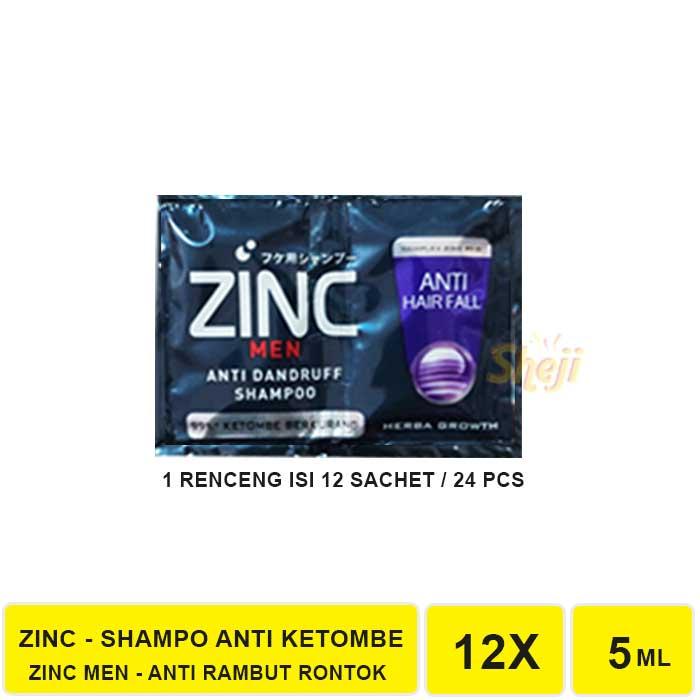 VS. SHAMPO ZINC SACHET 1 RENCENG ISI 12 SACHET / SHAMPO ANTI KETOMBE ZINC-ZINC MEN A.HAIR FALL
