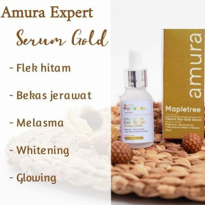 Serum Amura Expert Gold Menghilangkan Flek Hitam 100% Original - Gold