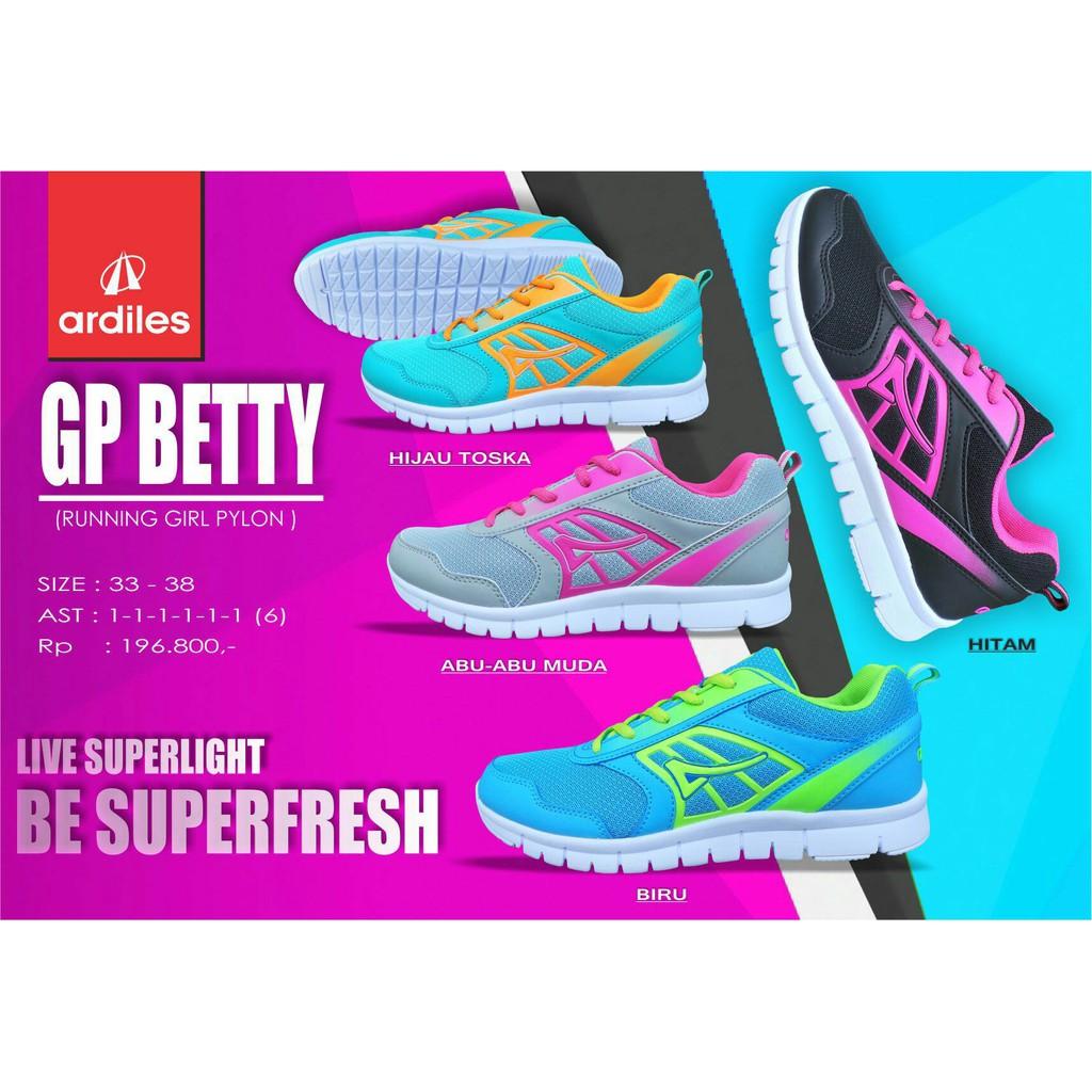 Sepatu Kets Casual Running Ardiles Wanita Pecora 100 Original Women Laziza Navy 38 Shopee Indonesia