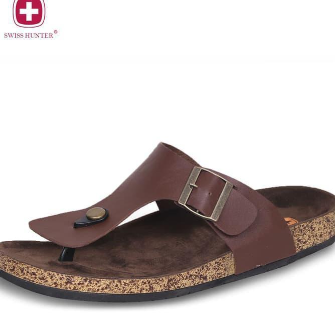 New Swiss Hunter Magnus Sandal - Hitam, 39 Limited Product | Shopee Indonesia