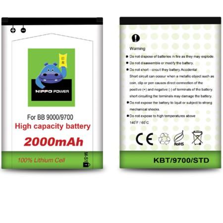 Hippo Baterai Blackberry - Bold Onyx / MS1 (2000MAH)