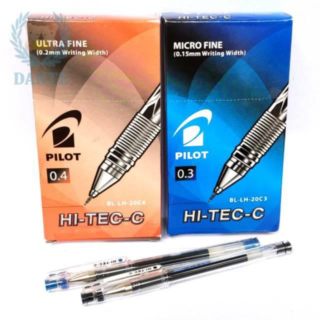 Pulpen Pilot Hi Tec C 0 3 0 4 Satuan Shopee Indonesia