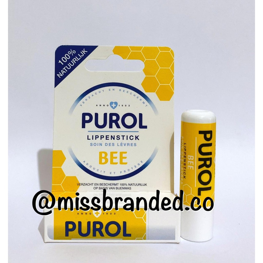 Purol Lip Balm Stick Bee Honey / Lippen Stick Bee Honey