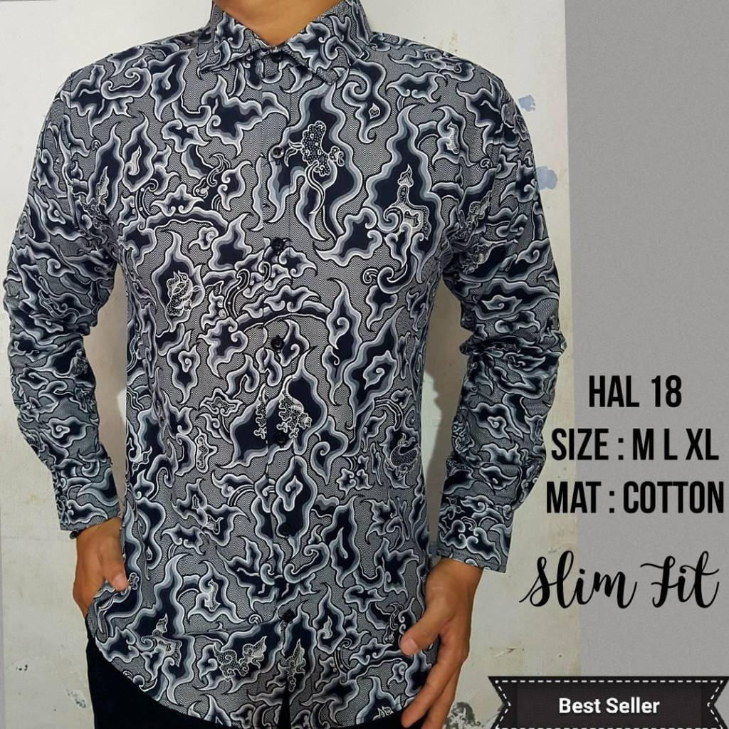 Baju batik pria abe71a0880