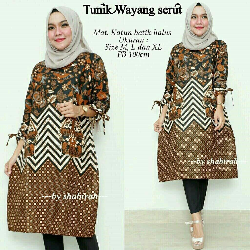 Santika Black Jumbo  2 Batik Modern Dress Casual Kerja Seragam Big Size  Kantor  b8cc1bbd48