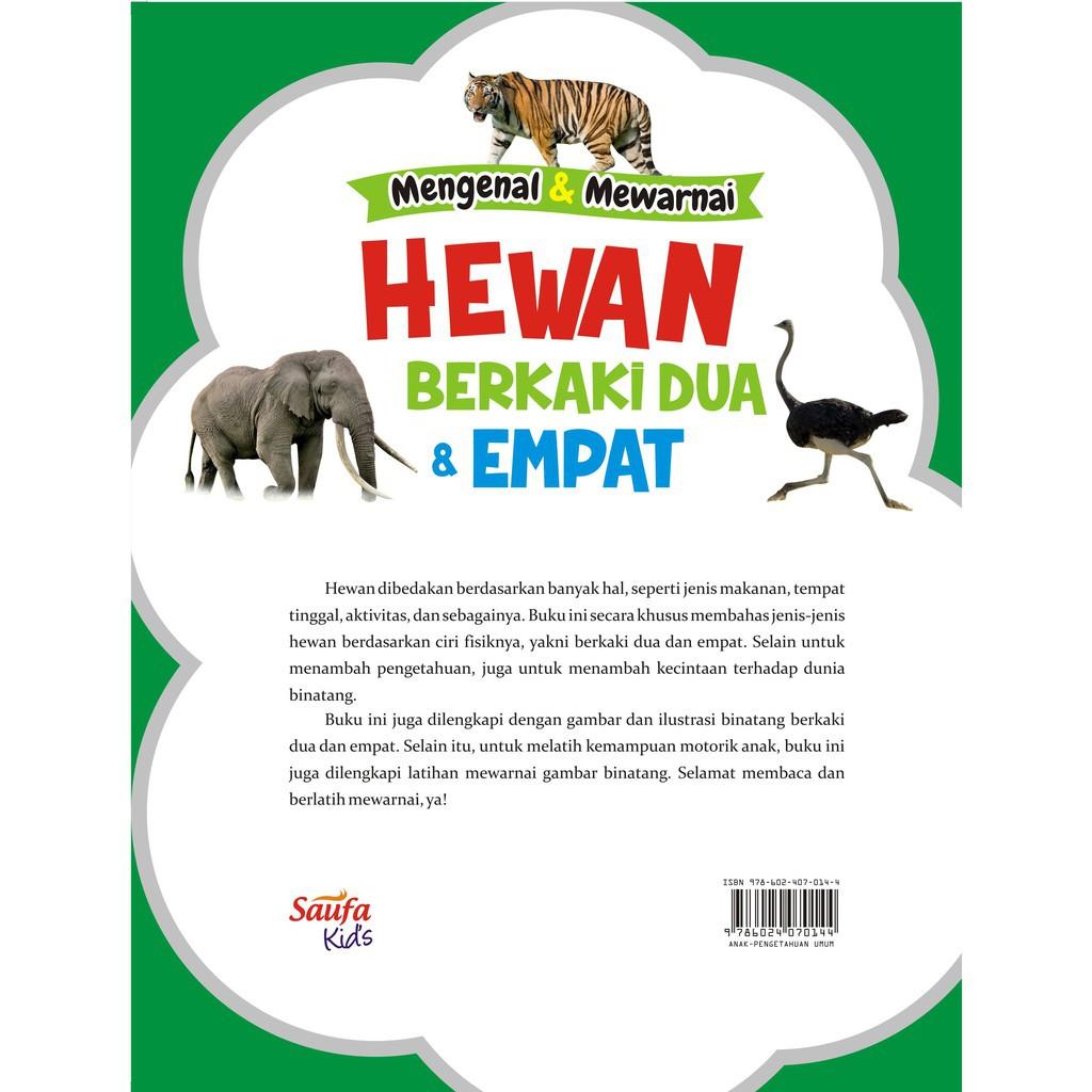 Buku Mengenal Dan Mewarnai Hewan Berkaki Dua Dan Empat Saufa