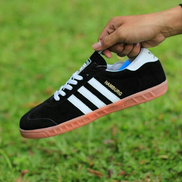 Sepatu Adidas Hamburg Hitam Sepatu Adidas Sepatu Casual