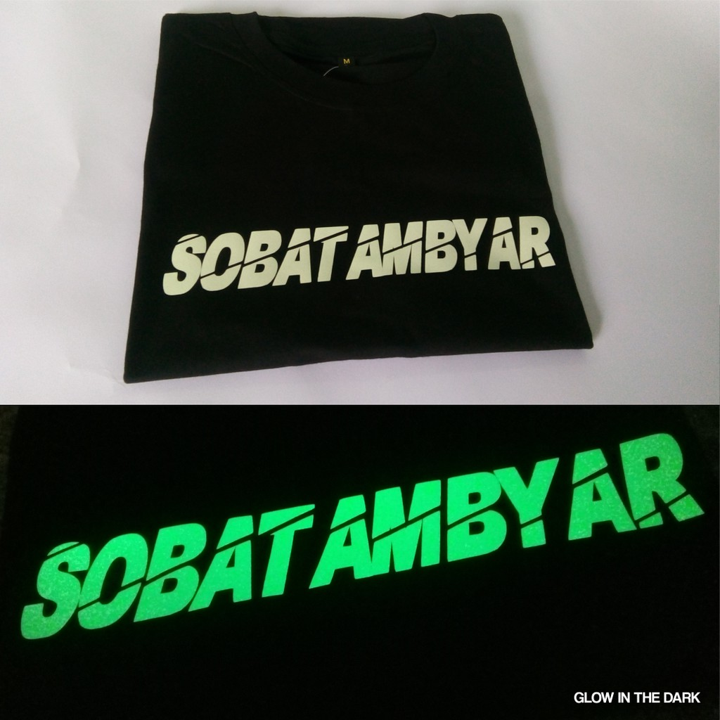Kaos Sobat Ambyar Didi Kempot Glow In The Dark Eksklusif Shopee
