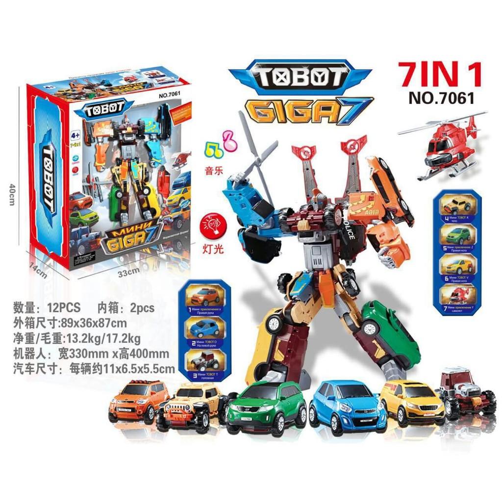 CR Tobot GIGA7 JUMBO Giga Seven LIGHT MUSIC 7061 Mainan Anak