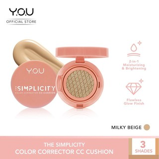 Official Distributor YOU The Simplicity Color Corrector CC Cushion YOU CC Cream Ori BPOM CCCream thumbnail