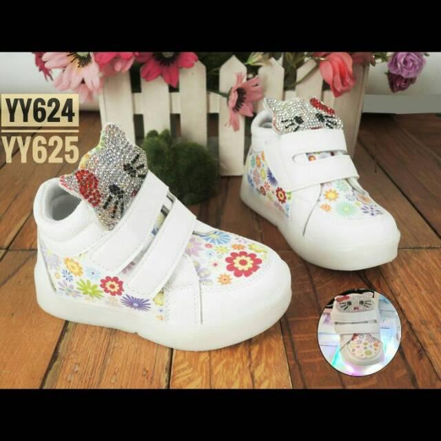 Sepatu kets led anak sz 21-25 lampu bintang pink biru hitam converse import  branded matahari  ec7f107324