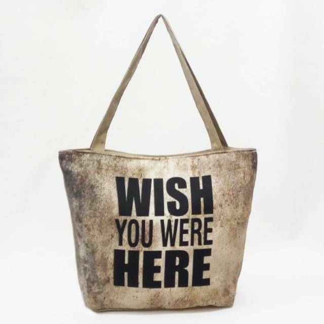tas tote bag kanvas unik lucu quotes penuh makna shopee