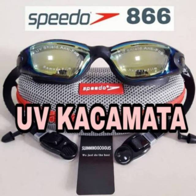 SPEEDO 866 GREY Kacamata Renang Anti Fog   UV Protection Speeds (Free Case  dompet keren)  11a514d339