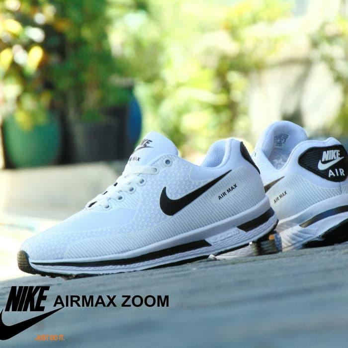 Sepatu Nike Airmax Zoom GRADE ORI Full White Putih Sport Casual Pria Wanita   34b740c771