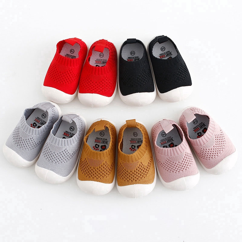 Voberry Baby Slipper Socks Prewalker Shoes with Grips Rubber for Toddler Boys Girls Warm Cotton Indoor