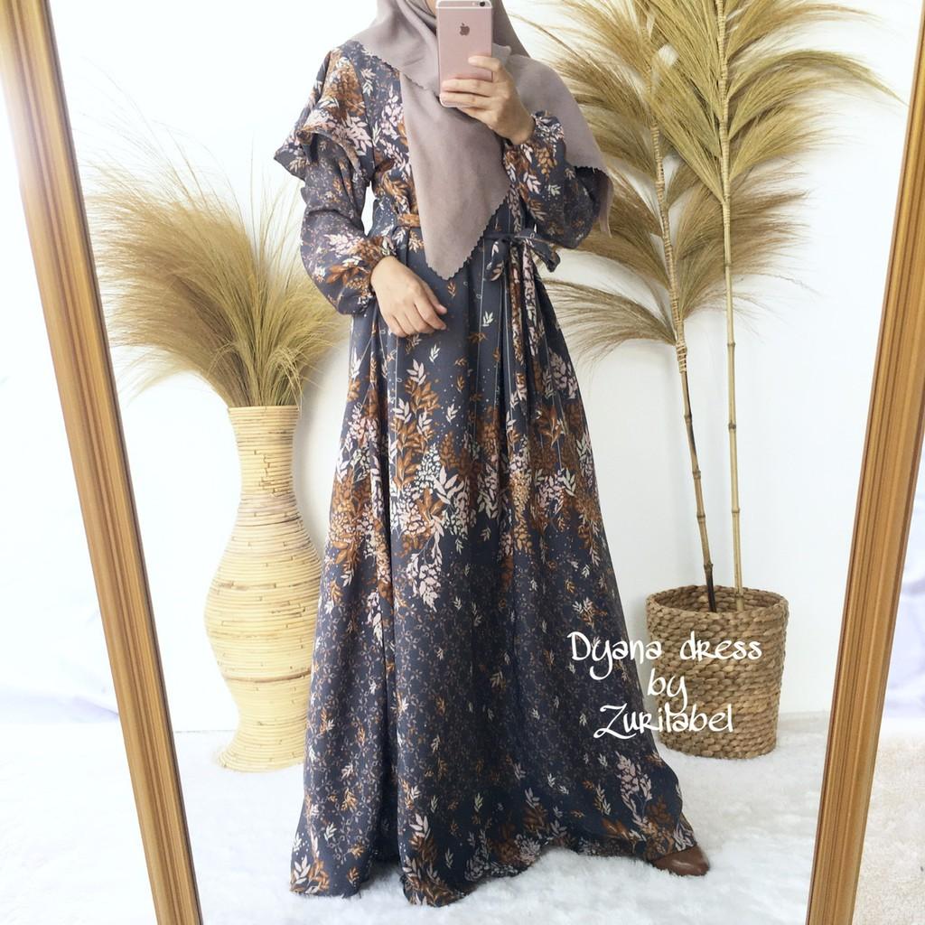 DYANA DRESS / GAMIS PREMIUM / GAMIS MOTIF BUNGA / GAMIS TEROMPET / FLOWY  DRESS
