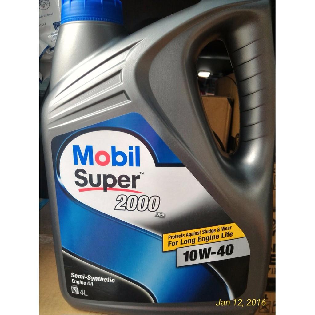Mobil Super 2000 X2 10w 40 Api Sn Cf 4 Liter Original Oli Pelumas 4t Pikoli Gaenwa Synthetic Blend 10w40 800ml Mesin Singapore Shopee Indonesia