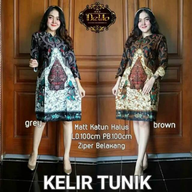 Casual Kantor / Batik Modern / Midi Dress. Source · PROMO TUNIK .