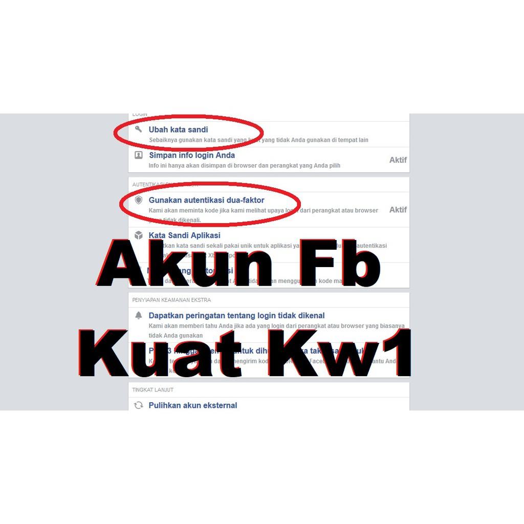 Jual Akun Facebook Kuat Kw1 - Jual Akun Fb kuat